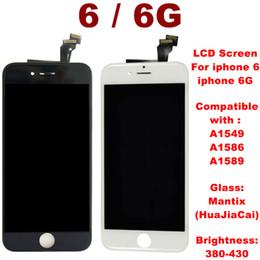 super tela de frete grátis Desconto Alta brigtness tela LCD para iPhone 6 LCD Touch Screen Digitizer Quadro Assembléia para iphone 6G Repair A1549 A1586 A1589 nenhum morto Pixels