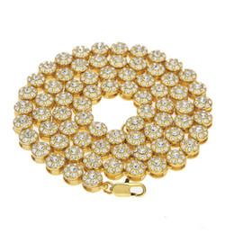 Мужчины 1 строка кластера цепи обледенелое желтое золото покрытием хип-хоп BLING CZ мужчины цепи ожерелье ювелирные изделия cheap clustered necklace от Поставщики сгруппированное ожерелье