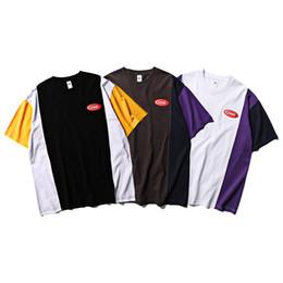 Hot Tide marca original 2019 marca hip hop impresión de manga corta camiseta modelos explosión moda casual juvenil camisa de murciélago y el desde fabricantes