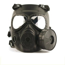 Airsoft paintball mascarilla completa online-Máscaras de cabeza tácticas Resina Ventilador de niebla de cara completa para CS Wargame Airsoft Paintball Maniquí de gas ficticio con ventilador para la protección de cosplay