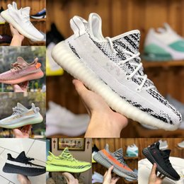 Stivali da kanye west per le donne online-2020 Adidas Yeezy 350 Boost sply 350 V2 Yeeyz Boots Reflective Kanye West V2 Casual Shoes Oreo Lino ZYON lino Uomo Donna Sneaker Sneakers