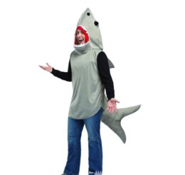 Vestiti di prestazione degli uomini di COSPLAY dello spettacolo dello squalo di costume degli uomini adulti di prestazione di danza del teatro di Halloween da costume di halloween di squalo fornitori