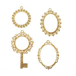 Argentina 4 Unids Clave Abierta Bisel Marco En Blanco colgantes para Artesanía de Resina UV DIY Jewelry Making 2019 Regalos cheap resin craft frame Suministro