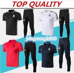 Camiseta de futbol top madrid online-camiseta polo de calidad superior 2019 Real Madrid Soccer Jerseys pantalones de chándal 19/20 camiseta de futbol BENZEMA MODRIC ISCO camisetas de fútbol POLO