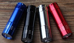 2019 meilleur équipement de camp Gros-9LED Mini lampe de poche en aluminium UV Blacklight Torch Light Lamp pour la vérification de l'argent ou de randonnée Camping meilleur équipement de plein air de voyage meilleur équipement de camp pas cher