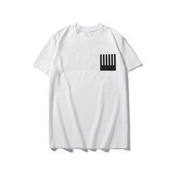 Herren weißes schwarzes hemd online-LuxuxMens Designer-T-Shirt-Qualitäts-Loose Fit Männer Frauen Hip Hop Short Sleeve Schwarz Weiß Mode Herren Rundhals-T-Shirts