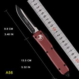 TECH DROP POINT Cuchillos de caza para camping AUTO MICRO UTX-85 Cuchillo automático Cuchillo MT Cortador táctico de acción CNC Cuchillos plegables cuchillos de bolsillo desde fabricantes