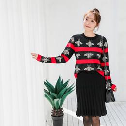 2081   Bee Jacquard Maternità Nursing Tops Camicie + Gonne 2 PZ Set Autunno  Inverno Moda vestiti per le donne in gravidanza OL gravidanza bed5ef4dcae