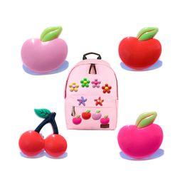 MOQ=25 шт. фрукты ПВХ рисунок значок брошь булавки значки симпатичные кнопка Pin значок Pinbacks школьные сумки одежда модные аксессуары Оптовая торговля подарок от