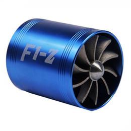 Turbocompressore per Auto Ventola di aspirazione Aria Dual Turbo per Auto Ventola di sovralimentazione Carburante Risparmiatore di Gas Turbina Turbo Ventola di aspirazione-Nero
