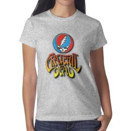 rocher mort reconnaissant Promotion Famouse Rock bande The Grateful Dead femmes grise t-shirt