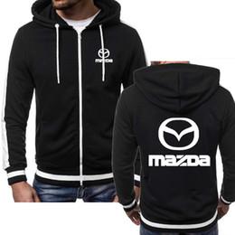 Jacket Men Mazda Car Logo Print Casual Hip Hop Harajuku Long Sleeve Hooded Sweatshirts Mens zipper Hoodies Man Hoody Clothing