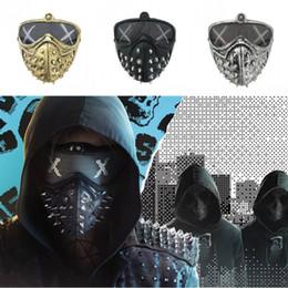 Maschera punk online-Halloween punk Devil Mask Cosplay Rivet morte maschere Grim Reaper Cosplay Rivet maschere di Halloween mascherine di travestimento
