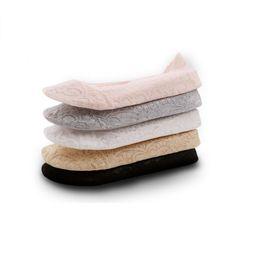 Anti-slip Lace Invisible Sock Chinelos Das Senhoras Das Mulheres Mistura de Algodão Sólida Footsie Sapato Forro Meias Barco 2019 Novo supplier slippers lace socks de Fornecedores de chinelos de renda meias