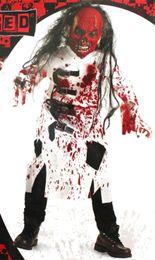 Trajes assustadores on-line-Halloween Party Cosplay Roupa de terror sangrento assustador do traje para Crianças Fantasia Vampire Knight Cosplay Tema Costume Tendência
