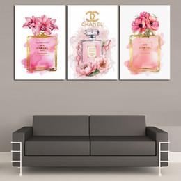 Telai di parigi online-Parigi QUALITÀ 3 pezzi Stampe su tela Wall Art Olio su tela Home Decor (senza cornice / incorniciato).