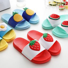 f57f7d32954c42 2019 New Cute Children s Fruit Slippers Summer Women Shoes Bathroom Sandals  Home Flat bottom Slippers Women Flip Flops Slides
