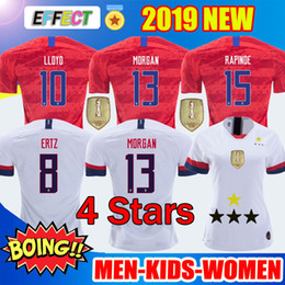 Hommes, football américain en Ligne-2019 Maillots USA Soccer Jerseys Kids Women HOMMES Enfants Coupe D'or USA Maillot De Foot PULISIC RAPINOE MORGAN ERTZ PRESSE LLOYD HEATH Maillots De Football Copa America T-shirts