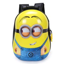 2019 lindas mochilas de diseño para la escuela Diseñador- niños mochila 3D bolsas de dibujos animados para niños bebés mochilas escolares gente amarilla linda mochila para el jardín de infantes regalo para niños y niñas lindas mochilas de diseño para la escuela baratos