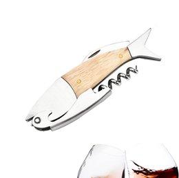 abridor de pesca Desconto Aço inoxidável profissional de madeira ossos de peixe abridor de vinho garrafa saca-rolhas abridor de coelho de alta qualidade saca-rolhas para vinho