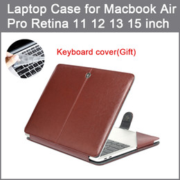 macbook air 11 inch keyboard case Promo Codes - PU leather Bag Case For MacBook Air Pro Retina 11 12 13 15 2016 2017 New Pro 13 15 inch with Touch Bar + Keyboard cover