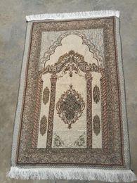 Alfombras turcas online-Alfombra de oración musulmana islámica 70 * 110 Arabia Árabe Oración Dubai turco Alfombra Home Use Ramadán algodón suave Manta Alfombras Mats GGA2207