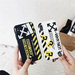 2019 pittura iphone Il nuovo modo caldo per iPhone 11 pro XS max X xr 7 8 più il bianco off pittura strisce coprono con la cordicella Stripes Off iPhone 6s Inoltre XS X Capa sconti pittura iphone