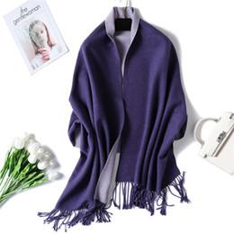 Deutschland 2019 Winterschal für Damen dicke warme doppelseitige Cashmere-Schals, Damenschals und Wickel-Pashmina aus weichem langem Bandana Versorgung