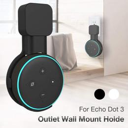 pás do alto-falante Desconto Suporte de montagem na parede para Amazon Echo Dot 3 Suporte para gancho de economia de espaço para alto-falantes domésticos inteligentes com arranjo de cabos para Google Home Mini