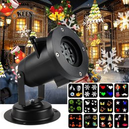 2019 indicateur de mise au point OKEEN Holiday Led Projecteur Projecteur avec 4 Diapositives Décoration de Noël Lumières Intérieur Jardin Extérieur Étanche Lampe de Pelouse