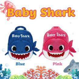 Wholesale 19x7x23CM BABY SHARK Zaini per bambini Zaini per scuola Spalle Zaini SQUALI bimbo peluche Asilo infantile Sacchetti per libri Shark Baby Giallo
