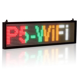 12v P5 Smd Car Wifi Led Sign Indoor Storefront Open Sign Programmable Scrolling Display Board-industrial Grade Business Tools Electronic Components & Supplies