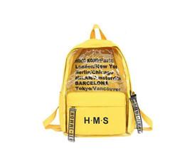 wholesale Harajuku Clear Canvas Letter Women Backpacks School Bags For Teenage Girls Female Quality Travel Backpack Bookbag Mochila