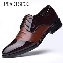 Sapatos extra grandes on-line-POADOSFOO Direto Da Fábrica Sapatos De Couro dos homens Sapatos de Negócios dos homens dos homens 46 Casual 47 Código Extra Grande 48 XQ-2071
