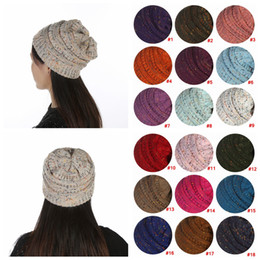 women warm crochet hat Promo Codes - Ski Beanie Winter Warm Knitted Hats Unisex Sport Cap wool Designer Beanies Women Men out door Hip Hop crochet Skull cap LJJA2995