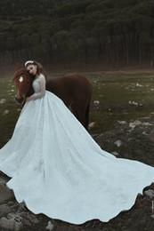 свадебное платье из бисера Скидка Бальное платье с высоким вырезом Sheer с длинным рукавом белого атласа Custom мусульманское свадебное платье Дешевые свадебные платья плюс размер бисероплетение свадебные платья H048