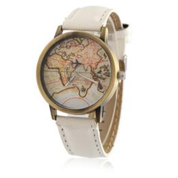 Assistir mapas de design on-line-Novo mini design relógio mapa do mundo relógios tempo relógio das mulheres homens este relógio das mulheres mens relógios relogio masculino