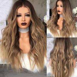 longo cabelo loiro encaracolado Desconto Mulheres Longo Encaracolado Loira Perucas Ombre Cabelo Sintético Natural Peruca Ondulada Completa REINO UNIDO