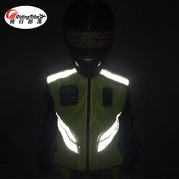 uniformes de segurança Desconto Riding Tribe motocicleta equitação colete reflexo colete uniform uniforme de viagem segurança fluorescente