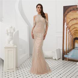 e55d3c19154 unique evening dresses Coupons - Unique Luxury Prom Dresses Hanging Neck Evening  Dresses Perspective Back Shoulder