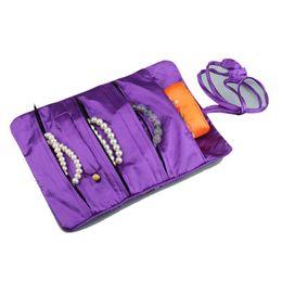 Schmuck seidenbeutel online-Oriental Silk Schmuckrolle Verpackungs-Schmucksache-Beutel-Organisator-Spielraum-Speicher-Fall