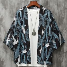 Para hombre de estilo japonés Cardigan para hombre yukata para hombre haori japonés samurai ropa ropa tradicional desde fabricantes