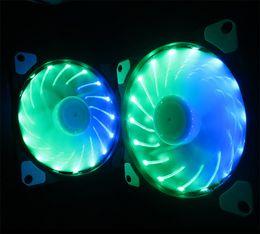 2019 ventilador superred 12v Colorido chasis RGB ventilador 12CM ventilador silencioso computadora de escritorio refrigerado por agua color mágico LED streamer