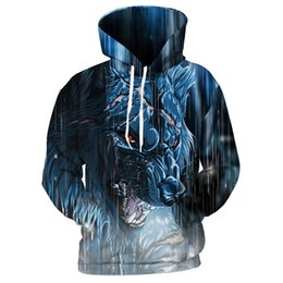 2019 спортивные костюмы леопарда Cloudstyle  Hoodie Men Cool Coats 3d Monster Wolf Tiger Leopard Printed Tracksuit Winter Fall Outerwear Loose Pullover Tops дешево спортивные костюмы леопарда