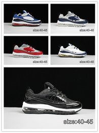 best cheap a52da 79122 2019 Nuovo modo di arrivo 98 Gundam Sport scarpe casual per uomo 98s di  alta qualità bianco blu rosso nero all aperto atletico sneaker