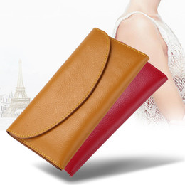 purse flats Coupons - Multifunction Leather Long Wallet Women Solid Color Simply Large Capacity Phone Pocket Wallets Card Holders Leather Coin Purse VT1592