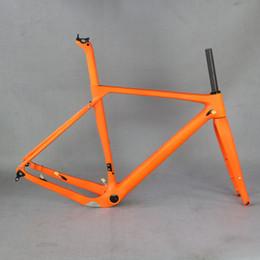 Discos de fibra de carbono online-SERAPH T800 Marco de bicicleta de grava de fibra de carbono GR030, venta de fábrica Frenos de disco de cuadro de ciclocross de carbono