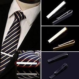 Squisiti legami di nozze online-Classico uomo cravatta stile casual Golden Silve Tie Clip Moda gioielli Exquisite Wedding Men Bow Pin Simple Necktie Clasp