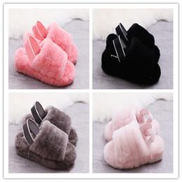 Удобные каблуки онлайн-2019 бархатные тапочки модные элементы широкая версия эластичного тапочки дизайн каблук пояса, подходит для женщин удобные тапочки