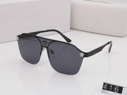 2019 marche punk occhiali 416 Luxary Eyewear Occhiali da sole Uomo Occhiali da sole Donna Oversize Big Large Tom Occhiali da sole Maschio Brand Designer Steam Punk Specchio Occhiali da sole marche punk occhiali economici